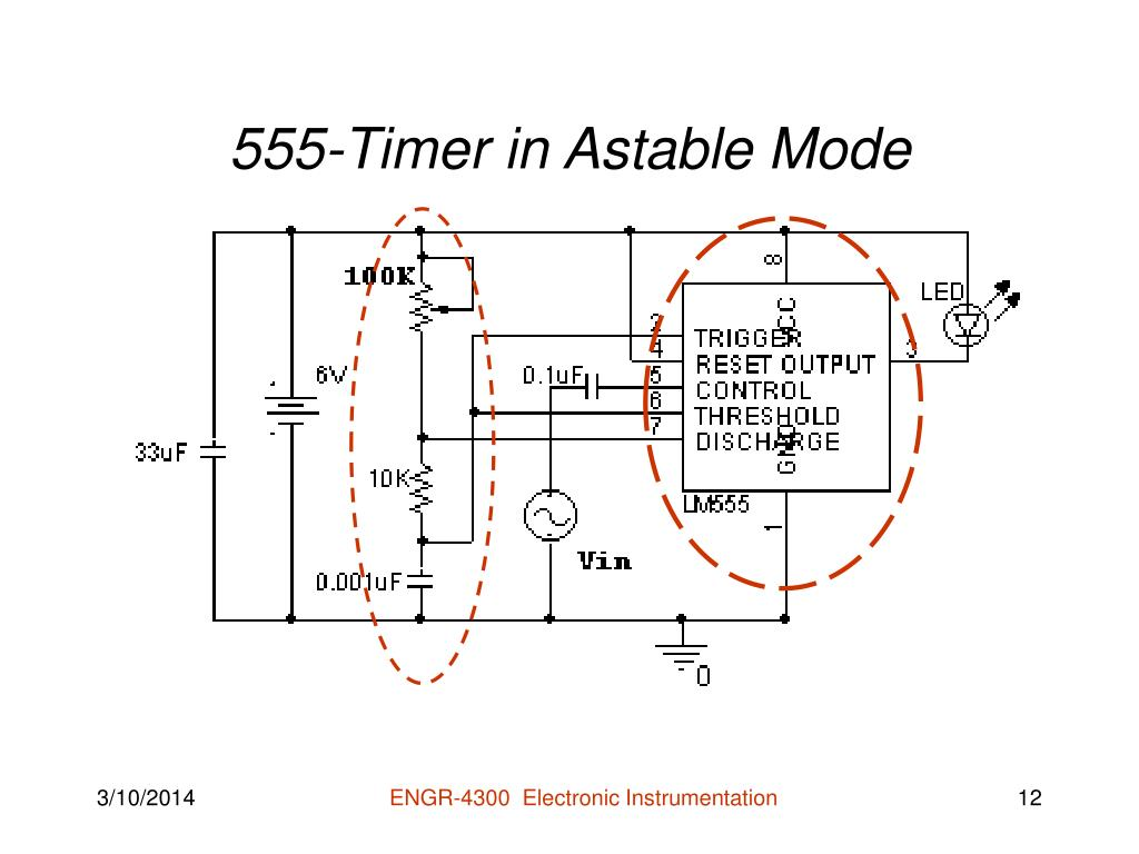 555-Timer in Astable Mode