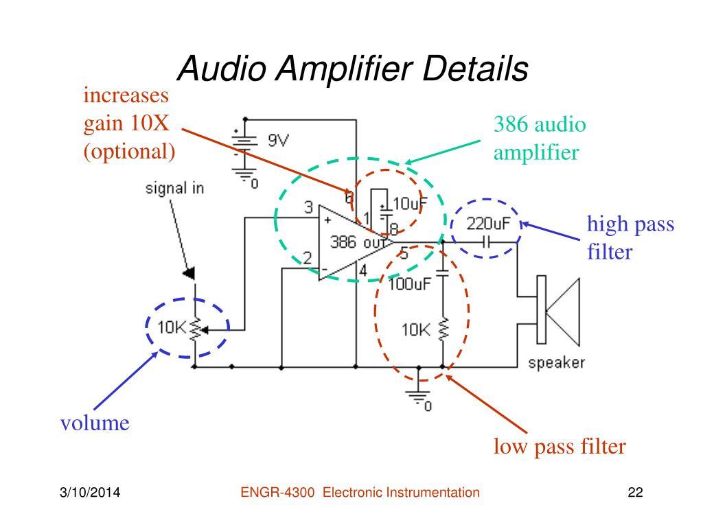 Audio Amplifier Details