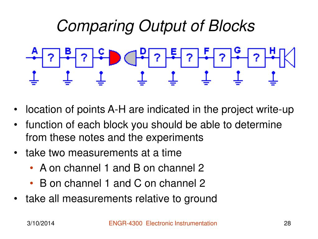 Comparing Output of Blocks