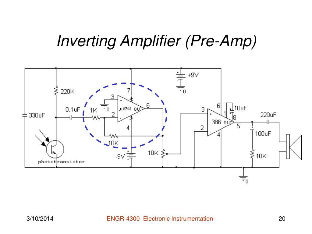 Inverting Amplifier (Pre-Amp)
