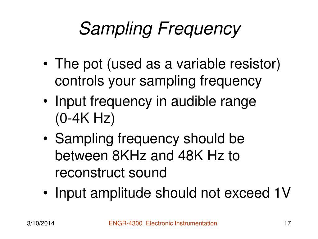 Sampling Frequency