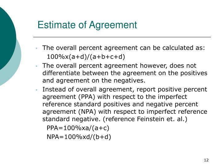 Estimate of Agreement