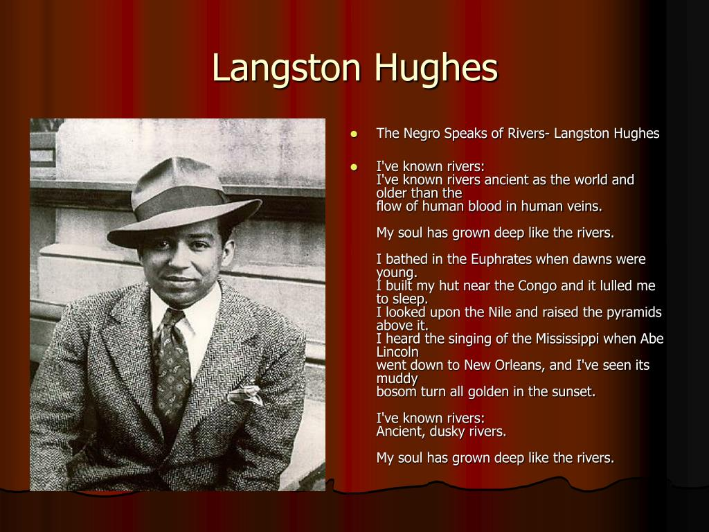 a critique of the negro speaks of rivers by langston hughes Technical analysis of the negro speaks of rivers literary devices and the technique of langston hughes.