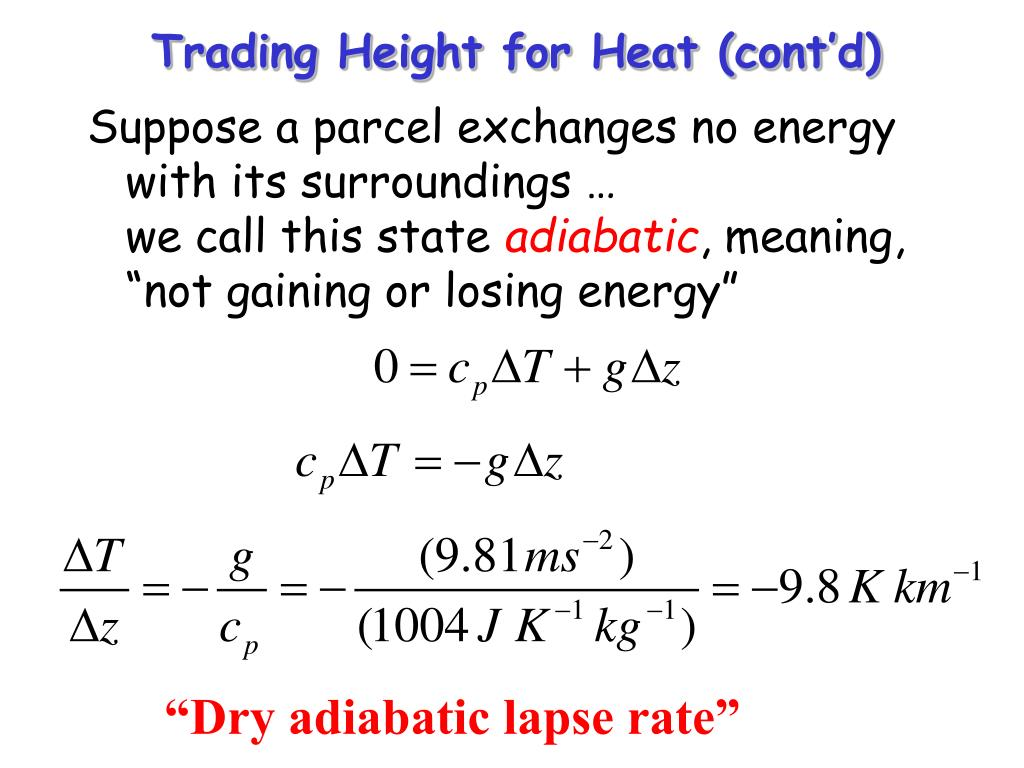Trading Height for Heat (cont'd)