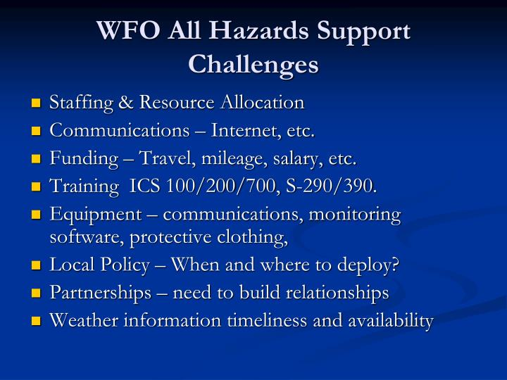 WFO All Hazards Support
