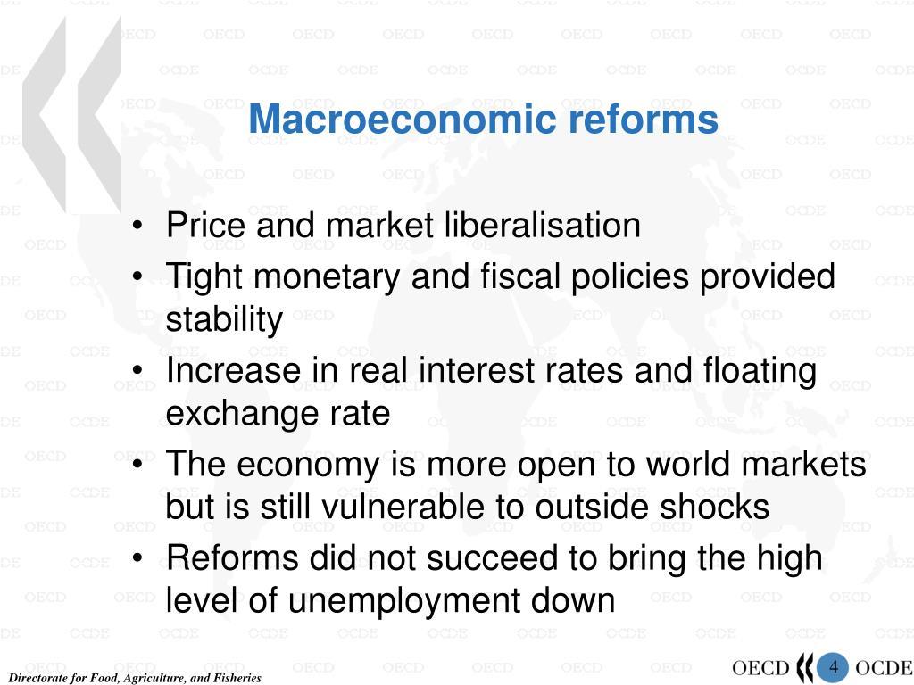 Macroeconomic reforms