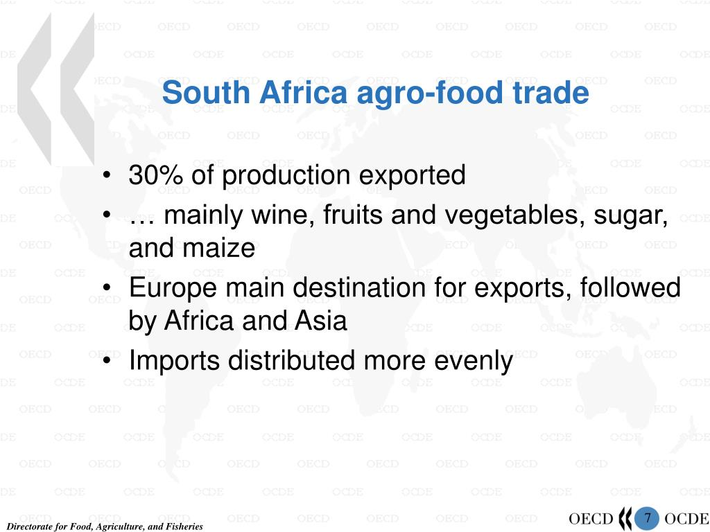 South Africa agro-food trade