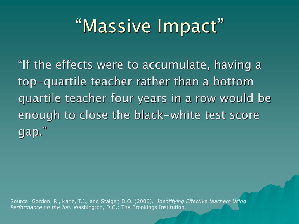 """Massive Impact"""