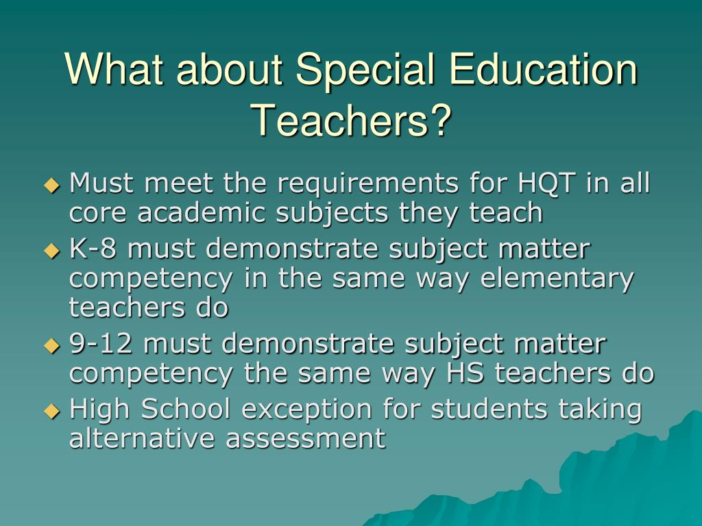 What about Special Education Teachers?