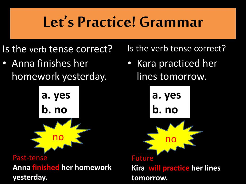 Let's Practice! Grammar