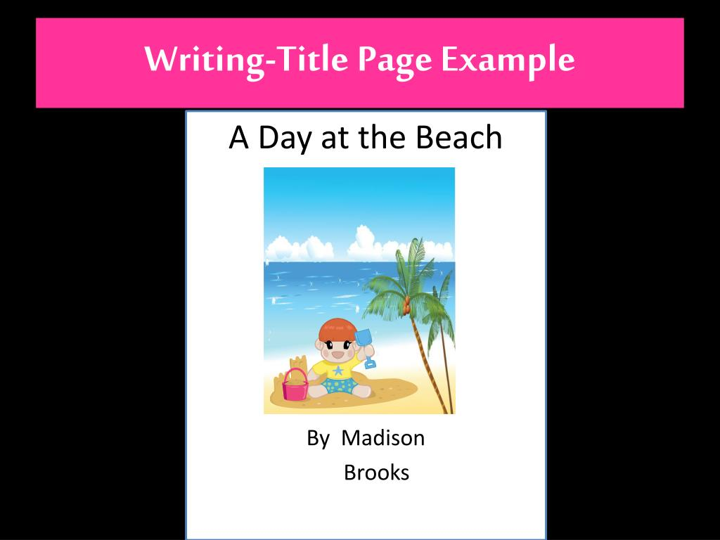 Writing-Title Page Example