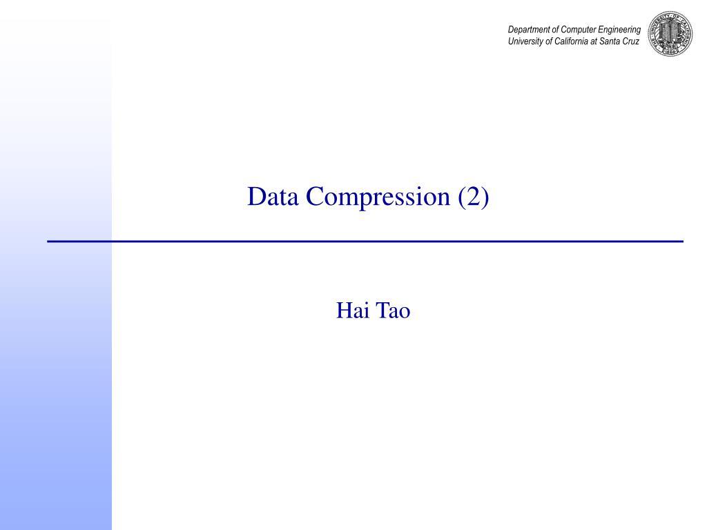 Data Compression (2)