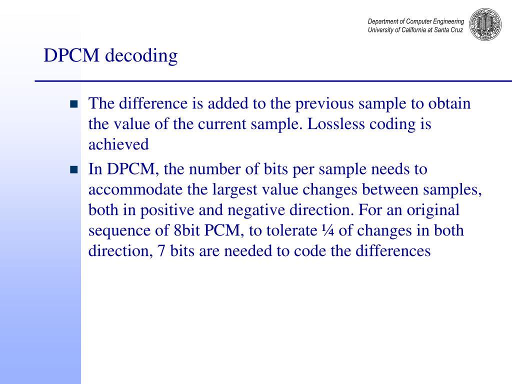 DPCM decoding