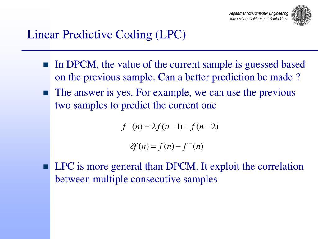 Linear Predictive Coding (LPC)