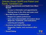 clinician group cahps and patient and family centered care