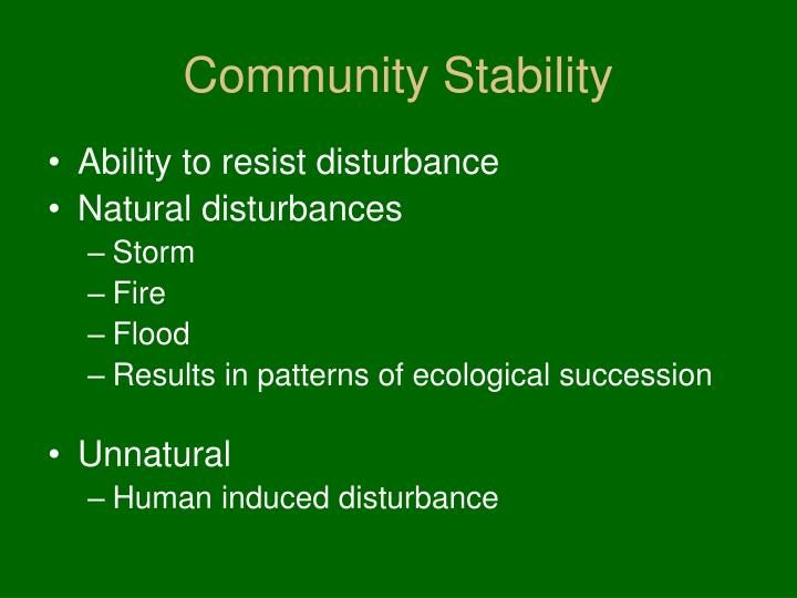 Community Stability