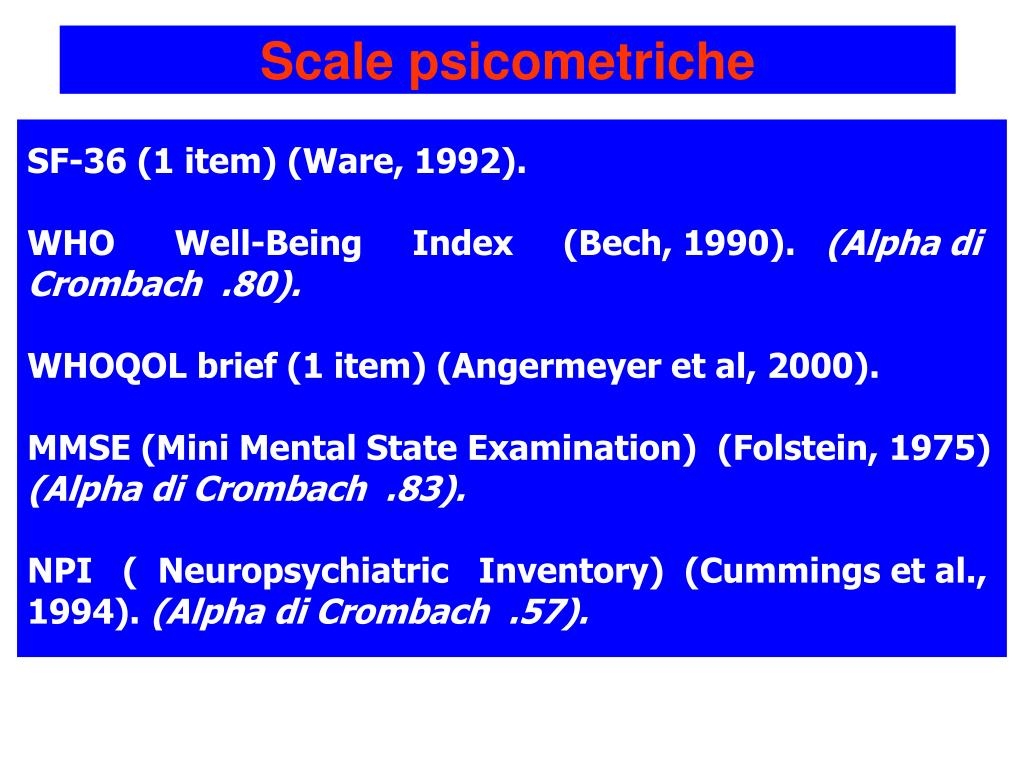 Scale psicometriche