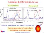 azimuthal distributions in au au