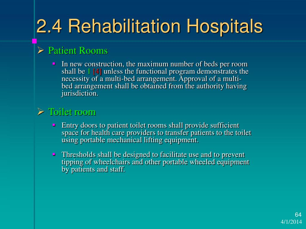 2.4 Rehabilitation Hospitals