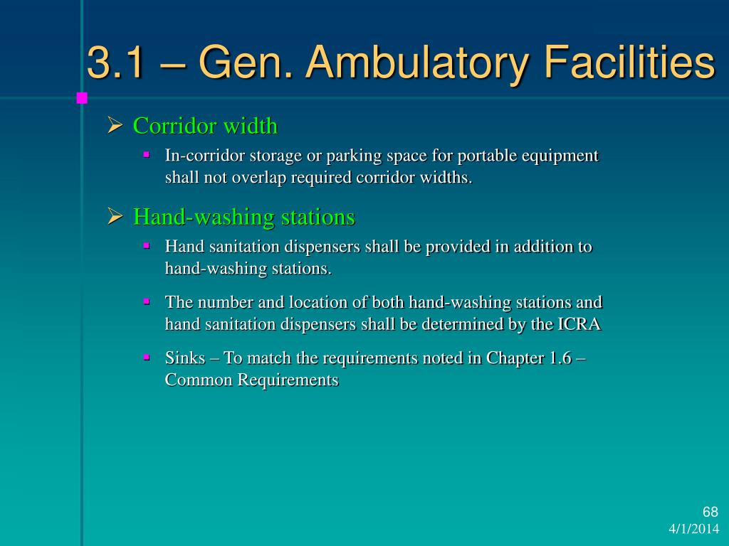 3.1 – Gen. Ambulatory Facilities