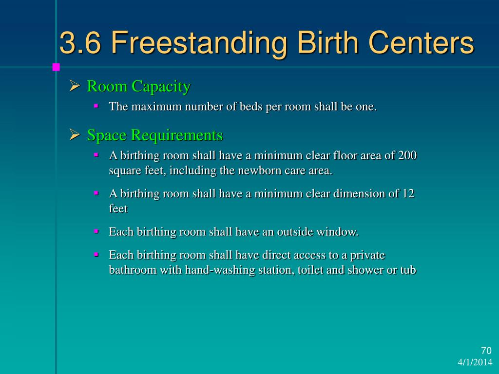 3.6 Freestanding Birth Centers