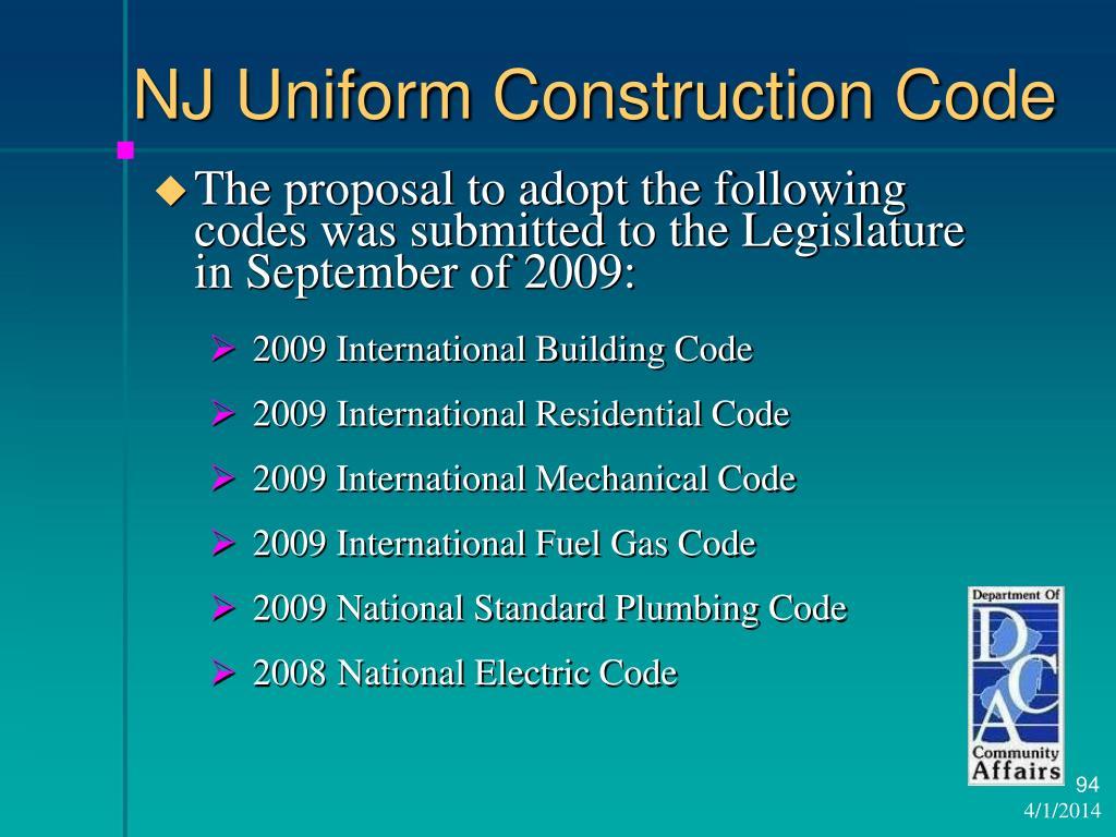 NJ Uniform Construction Code