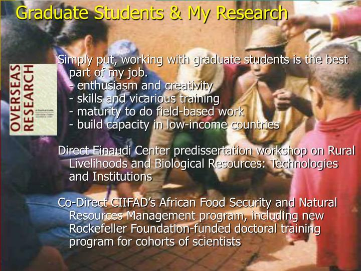 Graduate Students & My Research