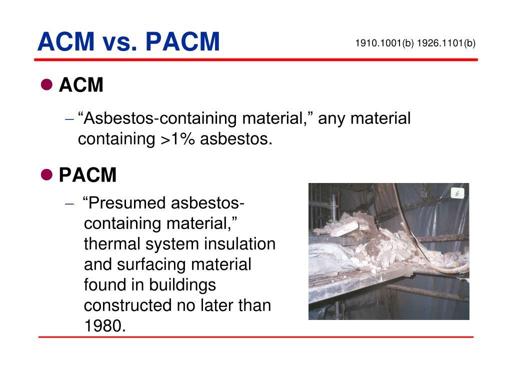 ACM vs. PACM