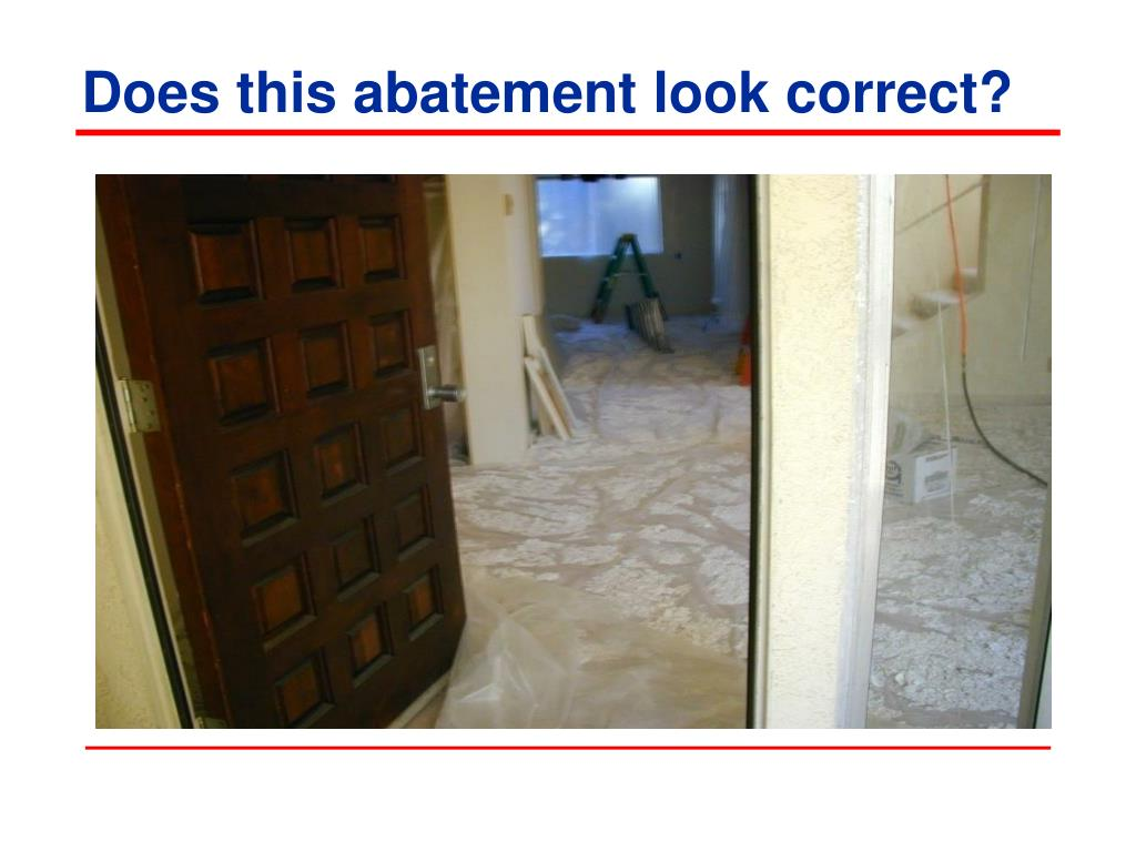Does this abatement look correct?
