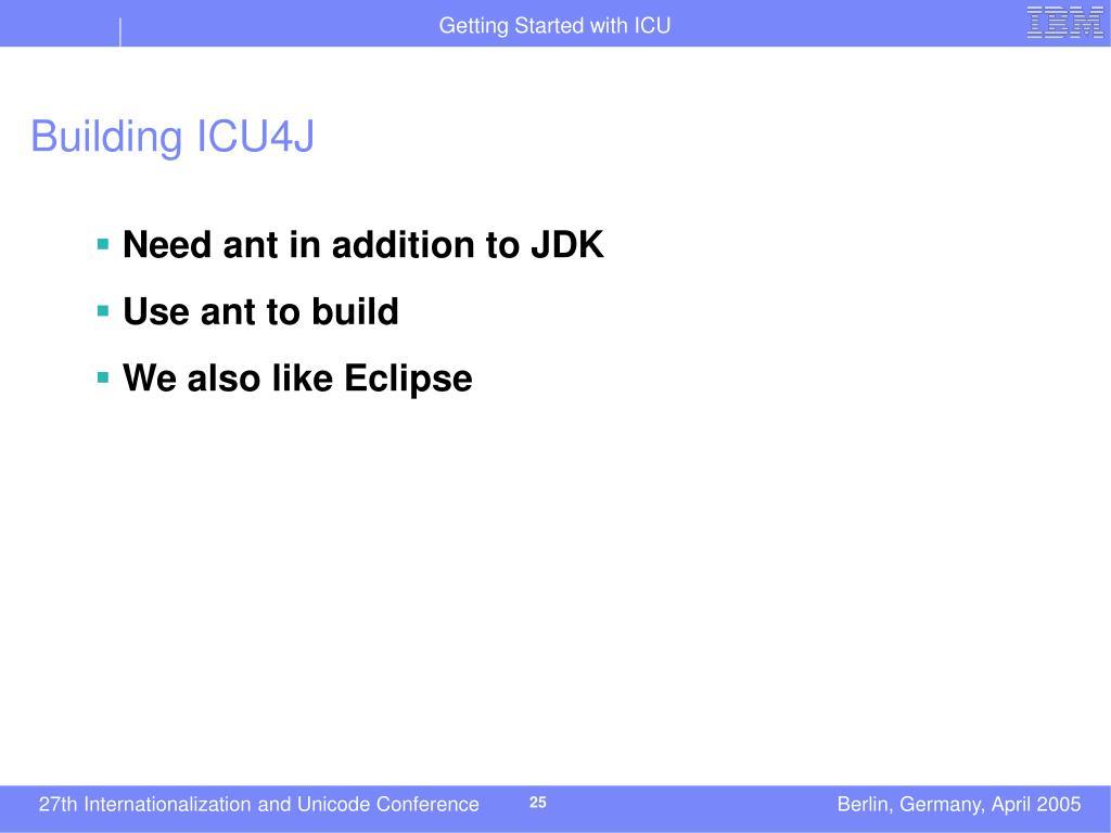Building ICU4J