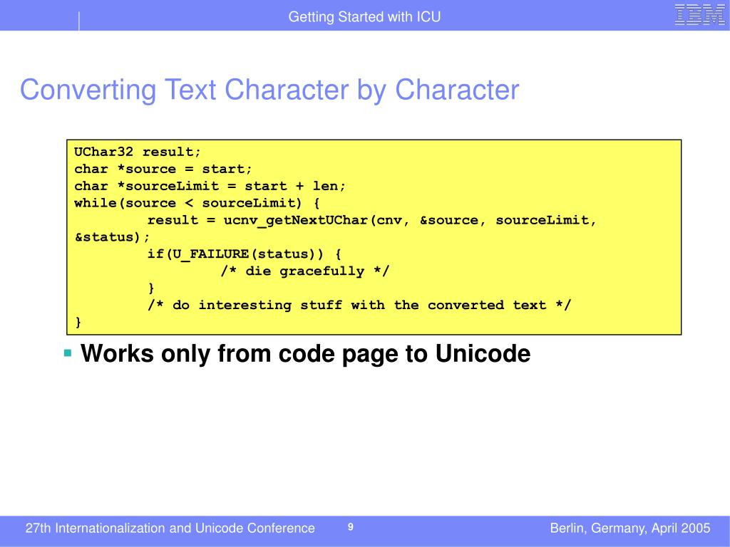 Converting Text Character by Character