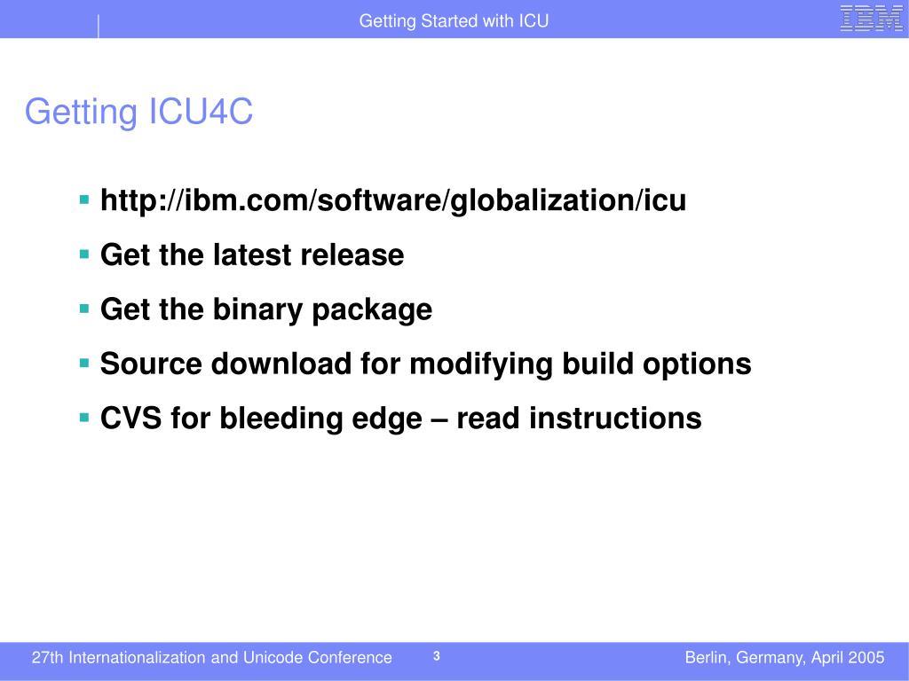 Getting ICU4C