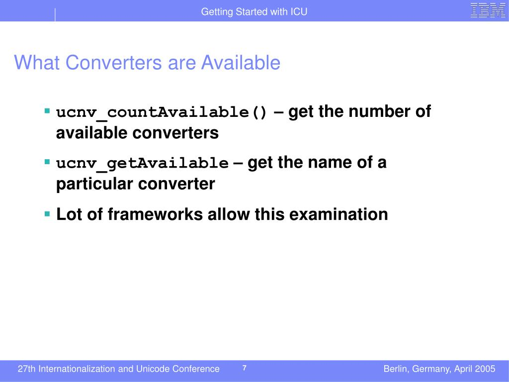 What Converters are Available