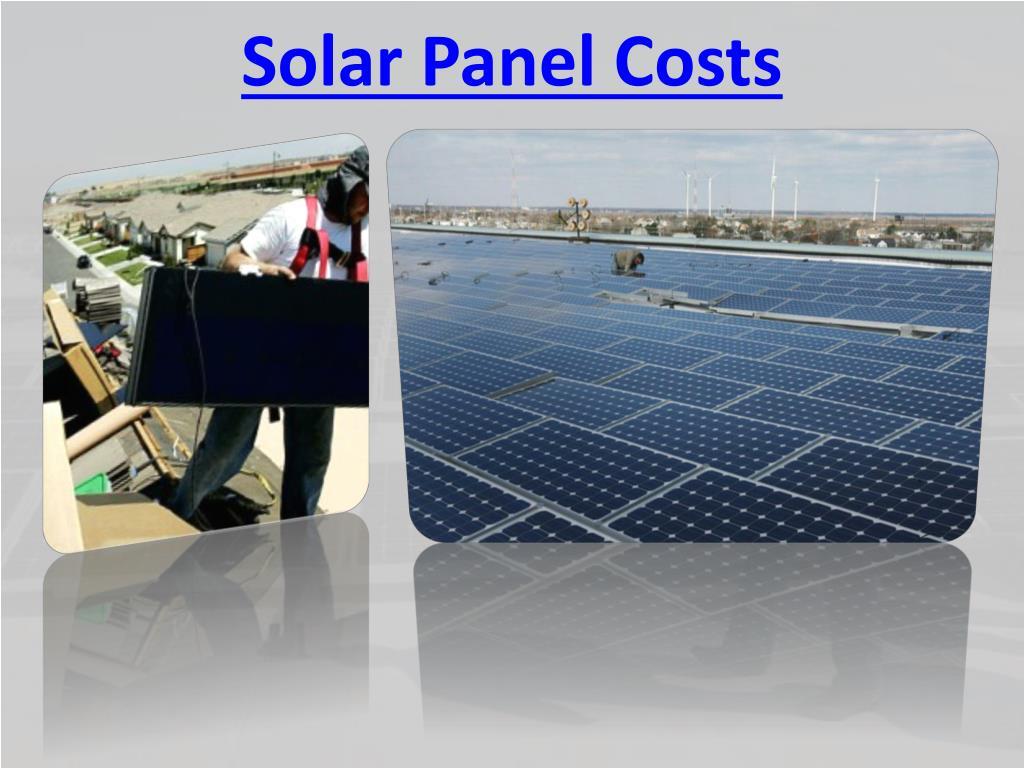 Solar Panel Costs
