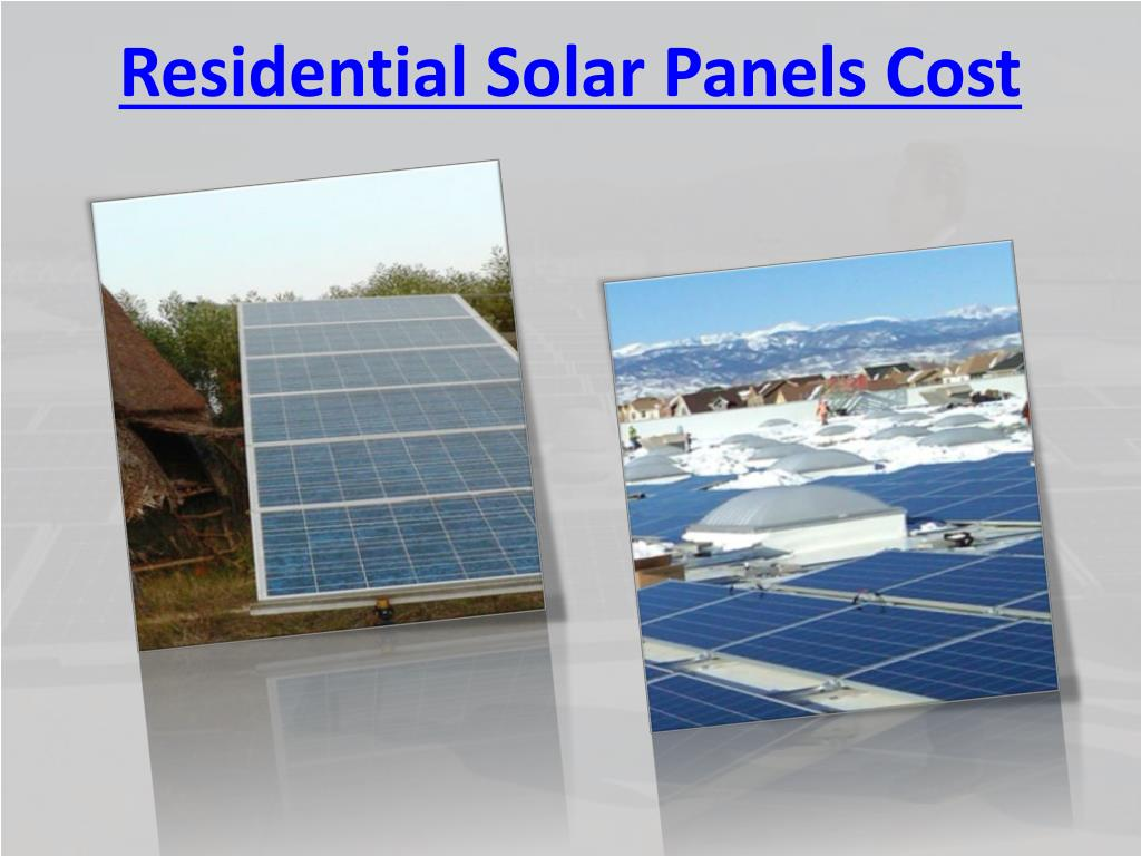 Residential Solar Panels Cost