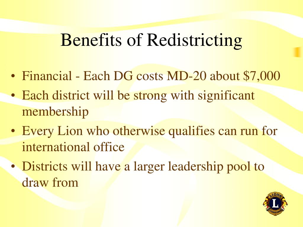 Benefits of Redistricting