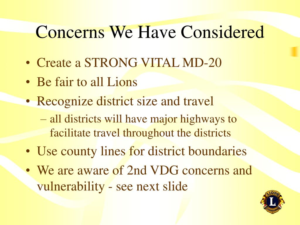 Concerns We Have Considered