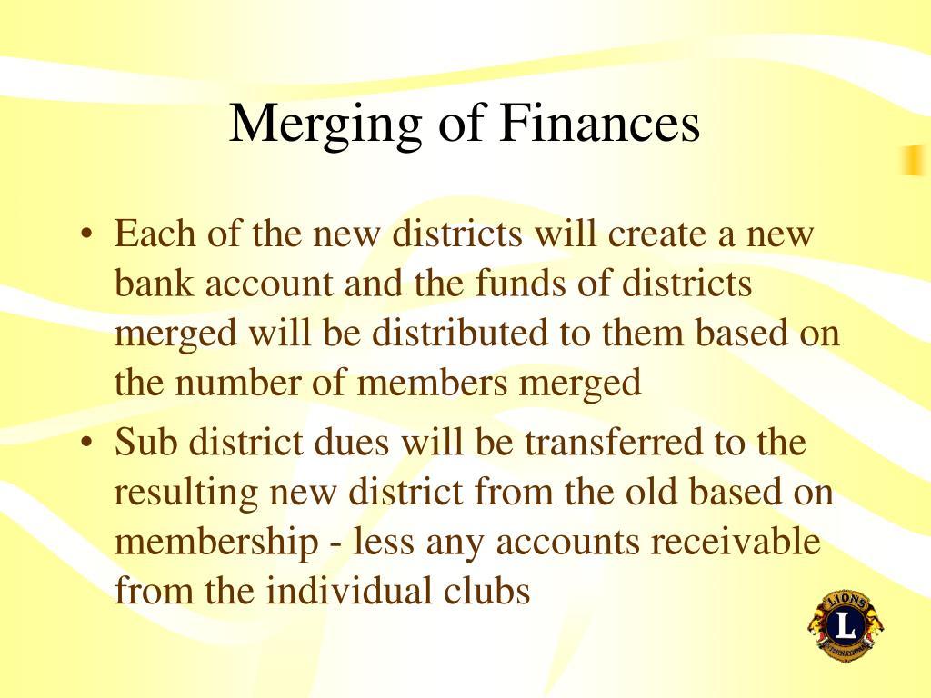 Merging of Finances