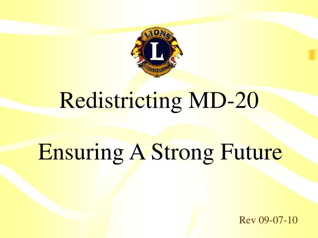 Redistricting MD-20