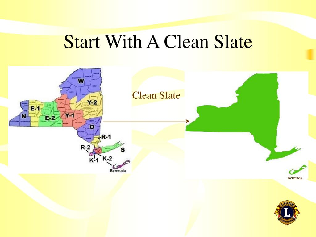 Start With A Clean Slate