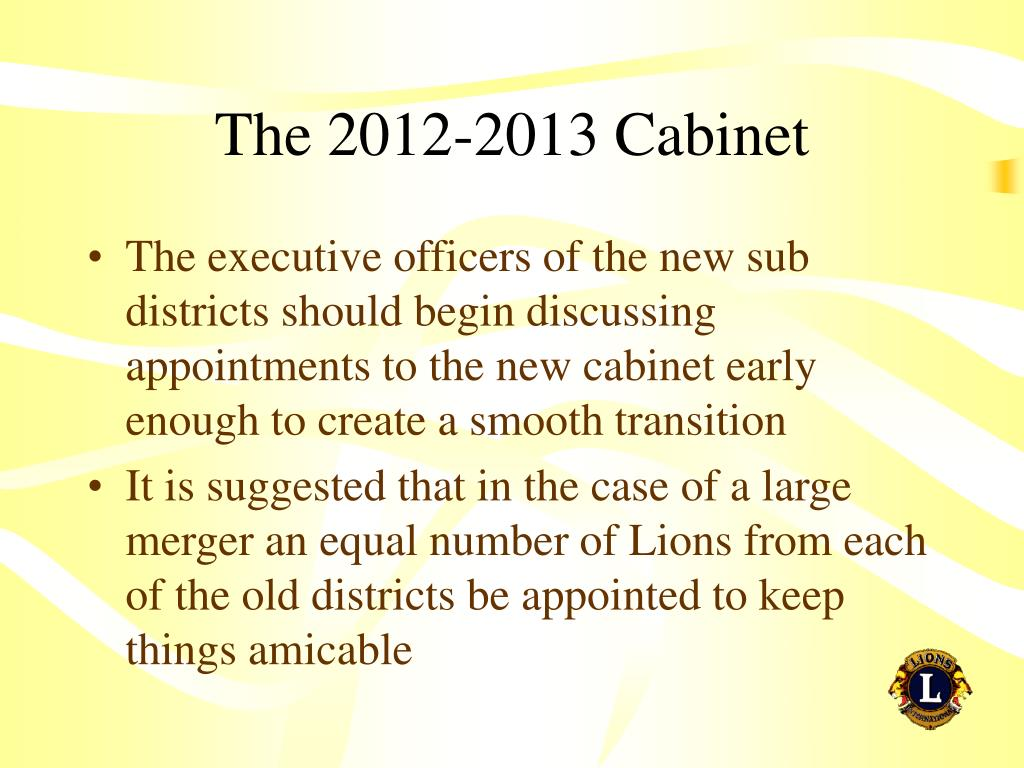 The 2012-2013 Cabinet