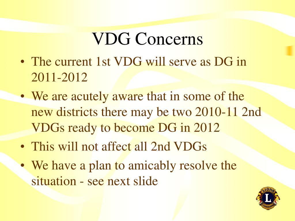 VDG Concerns