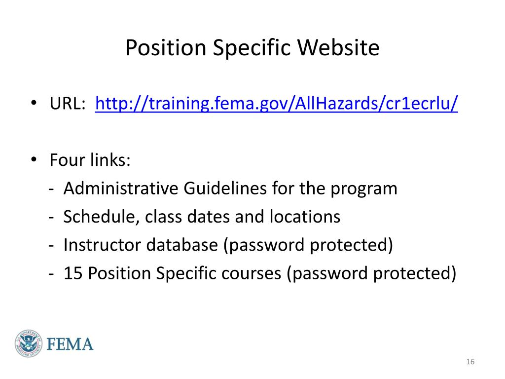 Position Specific Website