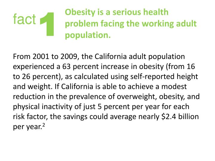 Obesity is a serious health problem facing the working adult population