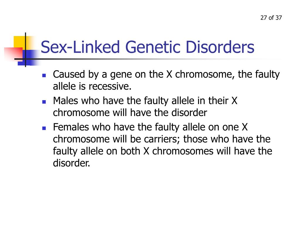 Sex-Linked Genetic Disorders