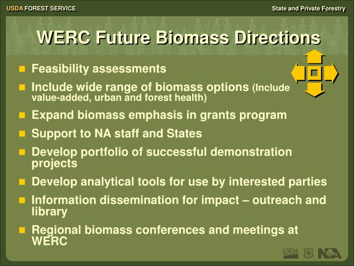 WERC Future Biomass Directions