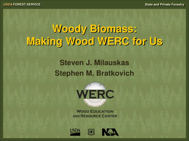 Woody biomass making wood werc for us