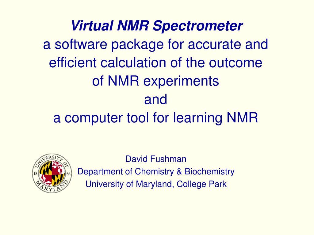Virtual NMR Spectrometer