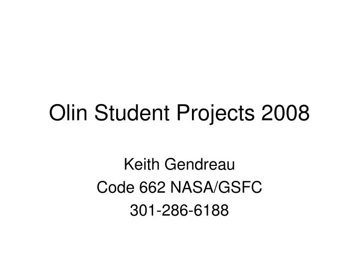 Olin student projects 2008