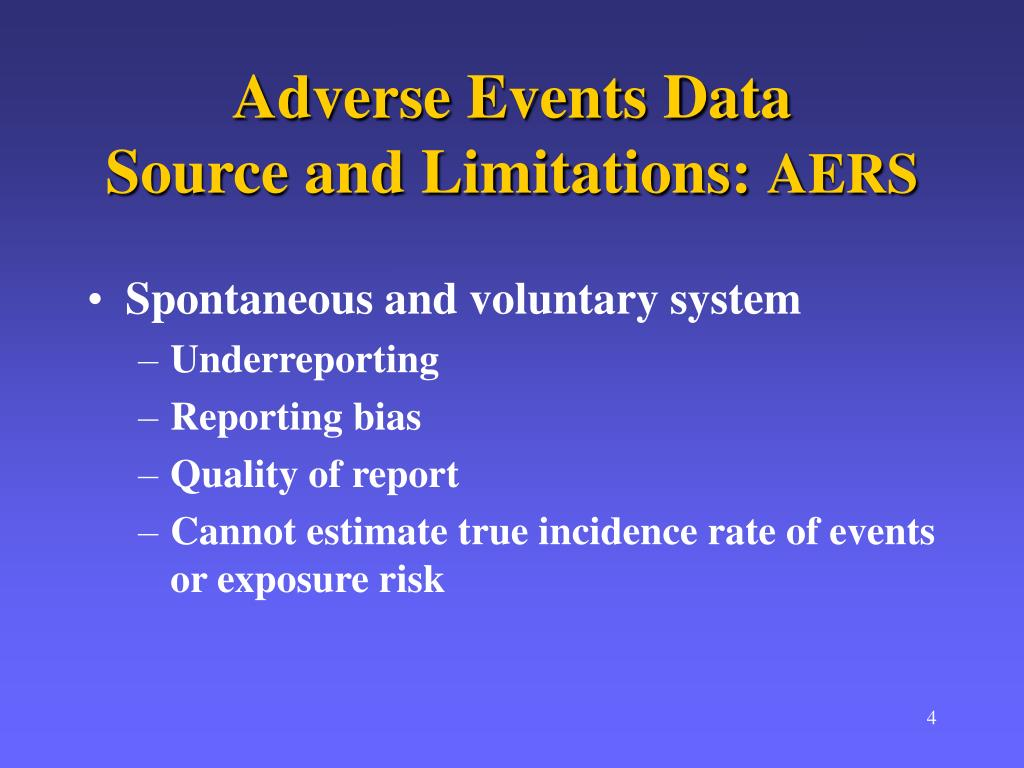 Adverse Events Data